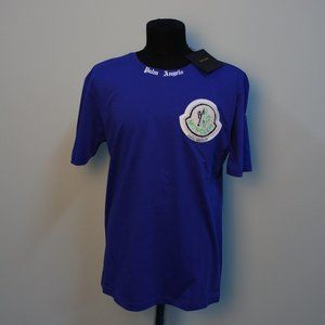 Palm Angels X Moncler Blue Short Sleeve Tee